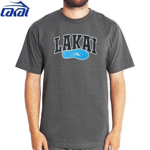 【LAKAI ラカイ スケボー Tシャツ】LAKAI SPORT TEE【チャコール】NO23