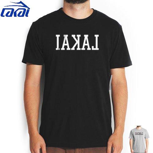 【LAKAI ラカイ スケボー Tシャツ】LAKAI BACKWARDS TEE【ブラック】【グレー】NO26