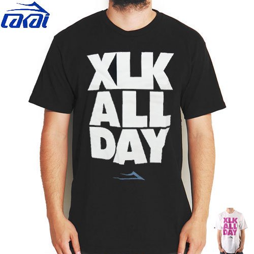 【LAKAI ラカイ スケボー Tシャツ】LAKAI XLK ALL DAY TEE【ブラック】【ホワイト】NO27