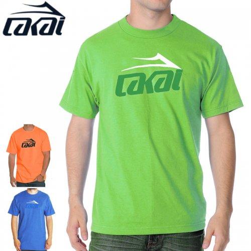【LAKAI ラカイ スケボー Tシャツ】FLARE TEE【ブルー】【ライム】【ネオンオレンジ】NO28