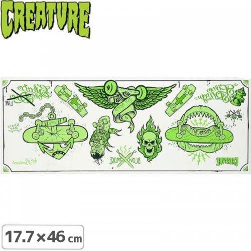 【クリーチャー CREATURE スケボー ステッカー】Babes 反転カッティングステッカー【17.7cm x 46cm】NO25