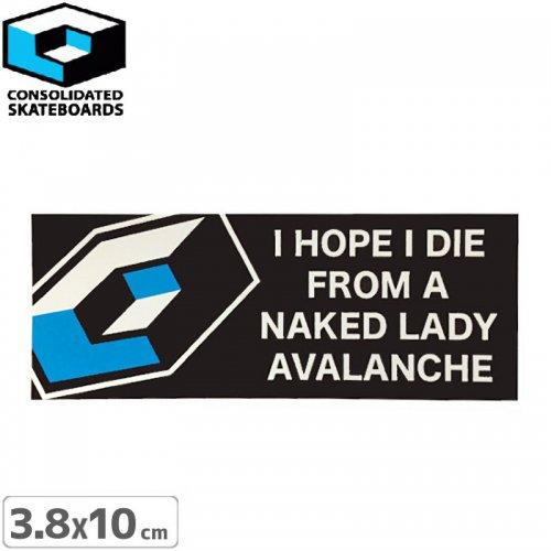 【CONSOLIDATED コンソリデーテッド スケボー ステッカー】AVALANCHE【3.8cm x 10cm】NO19