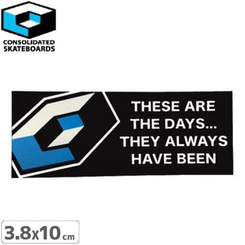 【CONSOLIDATED コンソリデーテッド スケボー ステッカー】THE DAY【3.8cm x 10cm】No21