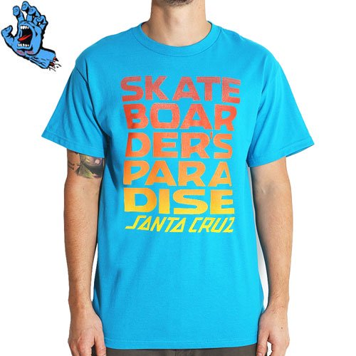 SALE! 【サンタクルズ SANTA CRUZ Tシャツ】SKATEBOARDERS PARADISE REGULAR TEE【ターコイズ】NO79