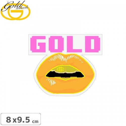 【ゴールド GOLD STICKER スケートボード ステッカー】FRONTS【8cm x 9.5cm】 NO33