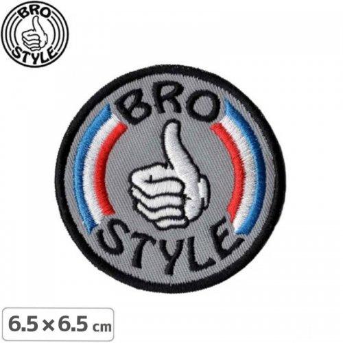 【BRO STYLE ブロスタイル スケボー ワッペン 】Patriot【6.5cm】NO1