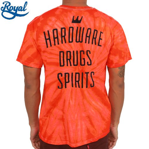 【ロイヤル ROYAL TRUCKS Tシャツ】GENERAL STORE TIE DYE TEE【オレンジ x タイダイ】NO58