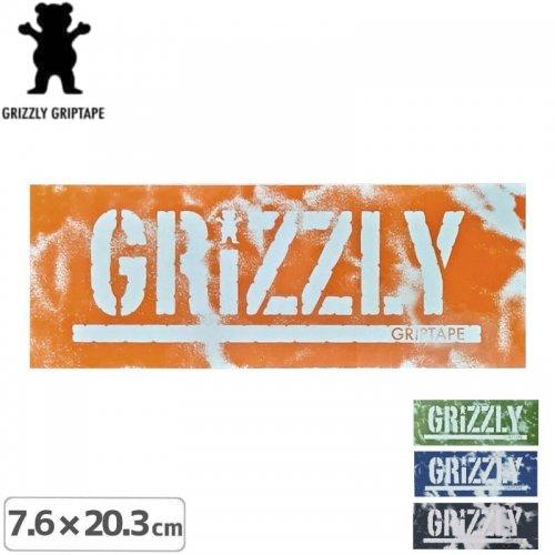 【グリズリーGRIZZLYステッカー】NEWWAVESTAMP【4色】【7.6cm×20.3cm】NO26
