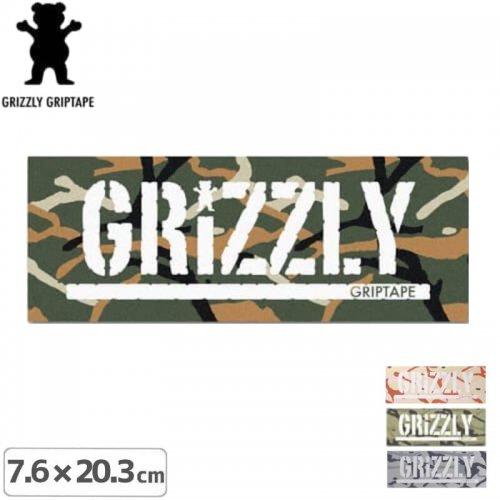 【グリズリー GRIZZLY ステッカー】BRANCH CAMO STAMP【4色】【7.6cm×20.3cm】NO27