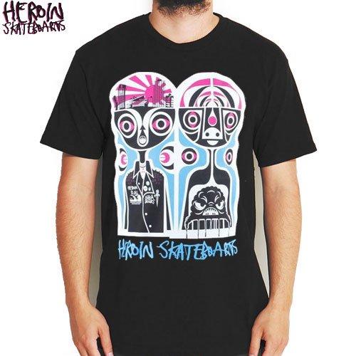 SALE! 【HEROIN ヘロイン スケートボード Tシャツ】SCATTERBRAIN TEE【ブラック】NO17