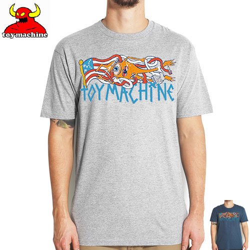 【トイマシーン TOY MACHINE スケボー Tシャツ】FLAG TEE【ヘザー グレー】【ヘザー ネイビー】NO231