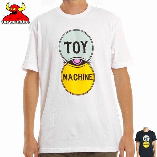 【トイマシーン TOY MACHINE スケボー Tシャツ】VENN DIAGRAM TEE【ネイビー】【ホワイト】NO233