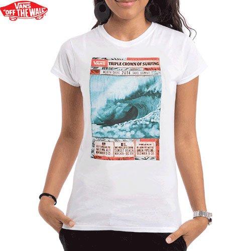 【VANS バンズ レディース Tシャツ】2014 VTCS POSTER TEE WOMENS【ホワイト】NO1