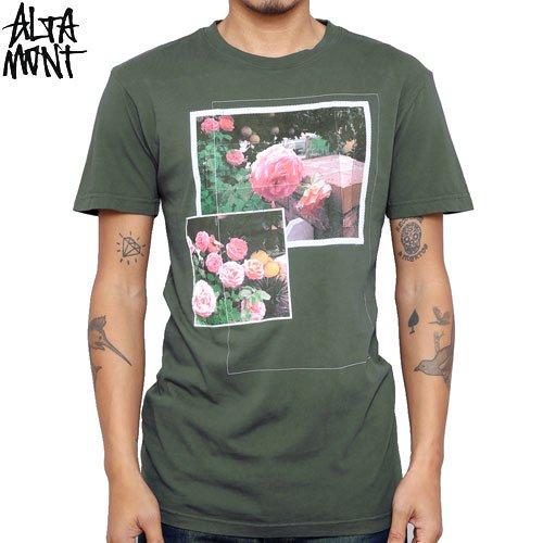 【オルタモント ALTAMONT スケボー Tシャツ】WINDOW FLOWERS TEE【SAGE】NO48