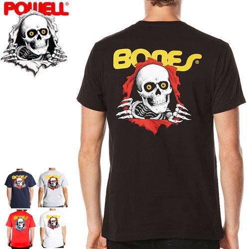 【パウエル POWELL BONES ボーンズ スケボー Tシャツ】CLASSIC RIPPER TEE【5カラー】NO1