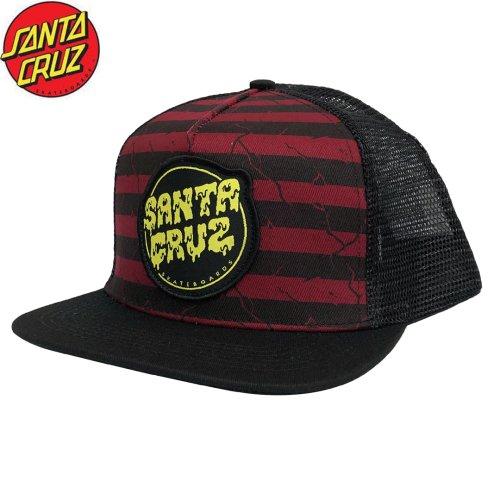 【サンタクルーズ SANTA CRUZ キャップ】BREAK DOWN TRUCKER HAT【ブラック x レッド】NO27