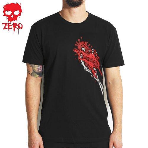【ゼロ ZERO SKATEBOARDS Tシャツ】SKELETON HANDS TEE【ブラック】NO26