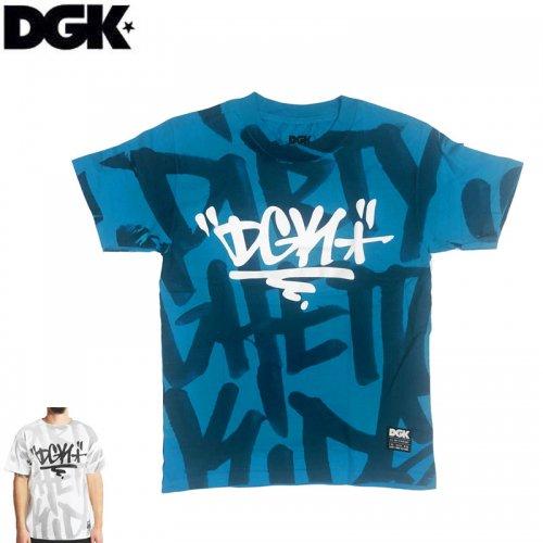 【DGK ディージーケー スケボー Tシャツ】CRUSHED TEE【ターコイズブルー】【ホワイト】NO293