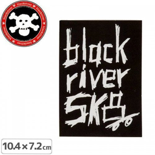 【BLACKRIVER ステッカー】WOODED LOGO STICKER【10.4cm x 7.2cm】NO11