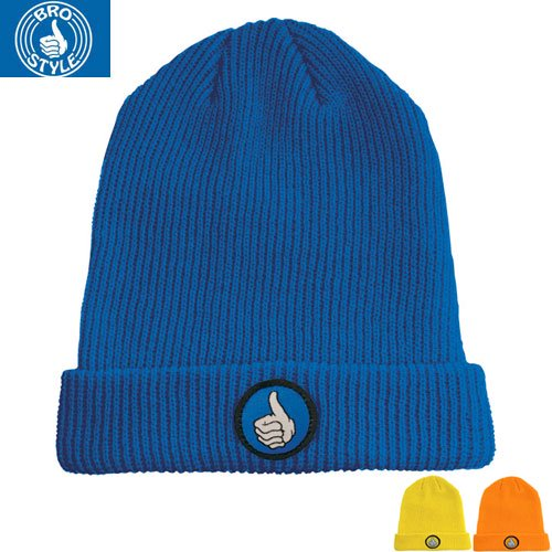 【BRO STYLE ブロスタイル ニットキャップ】FOLD UP BEANIE【3COLOR】NO1