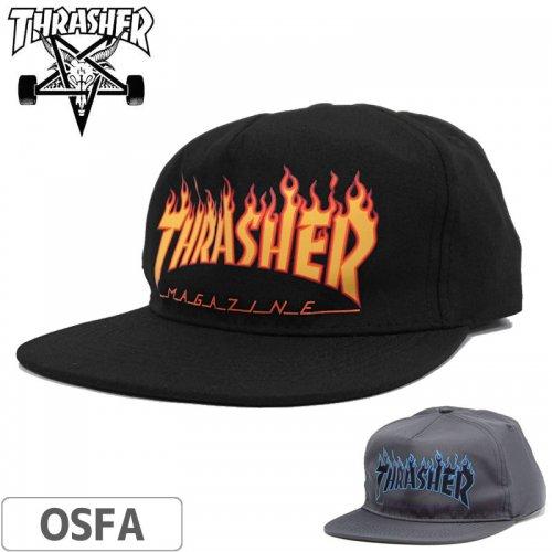 【スラッシャー THRASHER メッシュ キャップ】USモデル FLAME SNAPBACK POLY CAP【ブラック】【グレー】NO24