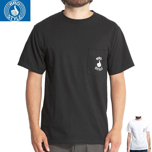 【BRO STYLE ブロスタイル スケボー Tシャツ】LOGO POCKET TEE【2COLOR】NO2