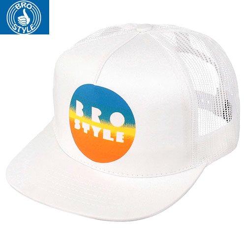 【BRO STYLE ブロスタイル スケボー キャップ】COLOR FADE CAP【ホワイト】NO1