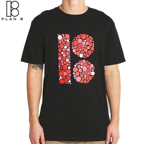 【プランビー PLAN-B スケボーTシャツ】EYE TEST TEE【ブラック】NO20