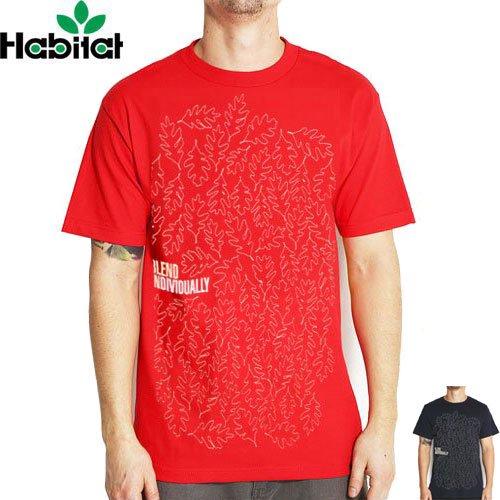 【ハビタット HABITAT Tシャツ】BLEND INDIVIDUALLY TEE【ネイビー】【レッド】NO11