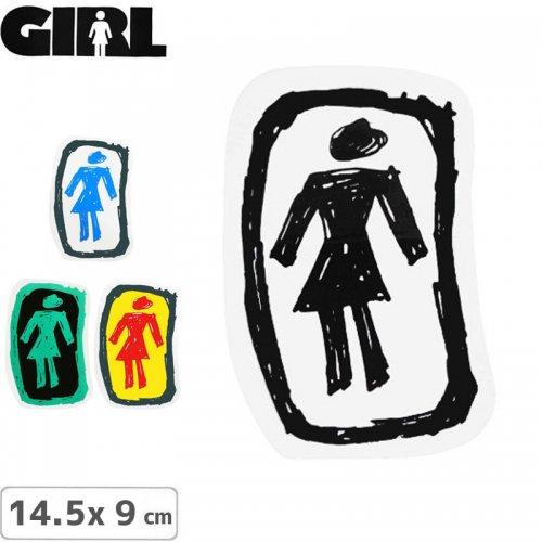 【GIRL ガールスケートボード STICKER ステッカー】LOGO STICKER【4色】【14.5cm x 9cm】NO71