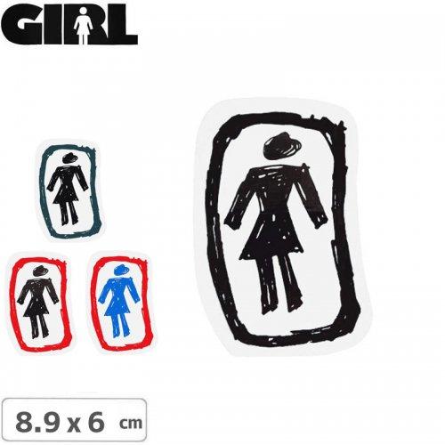 【GIRL ガールスケートボード STICKER ステッカー】LOGO STICKER【4色】【8.9cm x 6cm】NO73