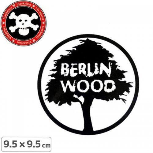 【BLACKRIVER ステッカー】BERLIN WOOD LOGO STICKER【9.5cm x 9.5cm】NO21