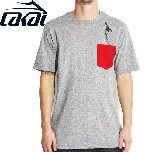 【LAKAI LIMITED FOOTWEAR ラカイ Tシャツ】BLUNT POCKET TEE【グレー ヘザー】NO30