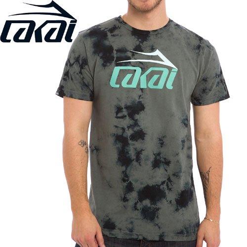 【LAKAI LIMITED FOOTWEAR ラカイ Tシャツ】LIGHTNING TONAL TEE【グレー タイダイ】NO31