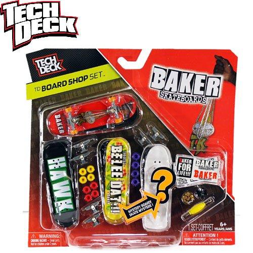 【指スケ TECH DECK テックデッキ】BAKER BOARD SHOP SET【ベーカー】NO12