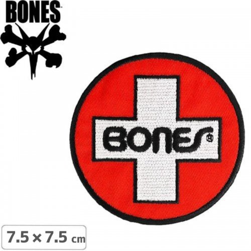 【ボーンズ BONES スケボー ワッペン】SWISS CIRCLE PATCH【7.5cm x 7.5cm】NO1