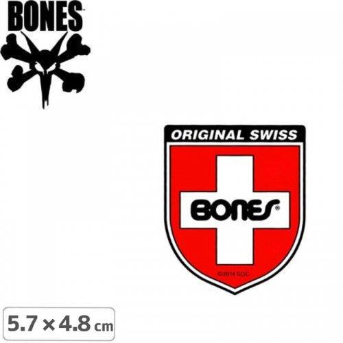 【ボーンズ BONES スケボー ステッカー】SWISS SHIELD STICKER【5.7cm x 4.8cm】NO37