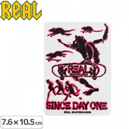 【リアル REAL SKATEBOARD スケボー ステッカー】SINCE DAY ONE STICKER【7.6cm x 10.5cm】NO46