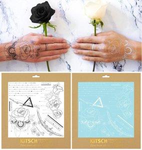 Kitsch(キッチュ)デザートローズ ヘナタトゥーシール/ホワイト&ブラック/Desert Rose True Henna Tattoo Set/テンポラリータトゥー<img class='new_mark_img2' src='https://img.shop-pro.jp/img/new/icons16.gif' style='border:none;display:inline;margin:0px;padding:0px;width:auto;' />