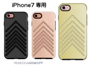 レベッカミンコフ(Rebecca Minkoff)iPhone7、8ケース/スタッズ付/ローズゴールド、ブラック、ゴールド<img class='new_mark_img2' src='https://img.shop-pro.jp/img/new/icons16.gif' style='border:none;display:inline;margin:0px;padding:0px;width:auto;' />