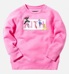 Kith NYC(キス)キッズスウェットトレーナー/10〜11才サイズ/Kidset x Power Rangers Crewneck/子供服(ピンク)<img class='new_mark_img2' src='https://img.shop-pro.jp/img/new/icons16.gif' style='border:none;display:inline;margin:0px;padding:0px;width:auto;' />