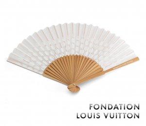 パリ限定!LOUIS VUITTON/ルイヴィトン美術館/水玉扇子/FONDATION LOUIS VUITTON/Fan