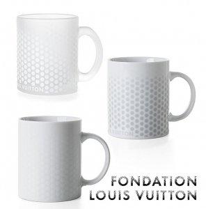 パリ限定!LOUIS VUITTON/ルイヴィトン美術館/マグカップ/陶器&ガラス/ドット柄/FONDATION LOUIS VUITTON/porcelain mug
