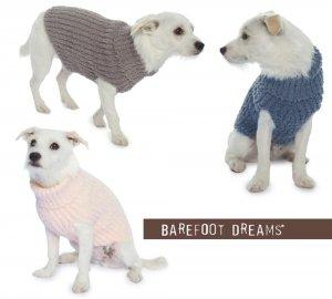 ベアフットドリームス(Barefoot Dreams)ドッグセーター/犬の洋服(ピンク、スレートブルー、ウォームグレー)CozyChic Ribbed Dog Sweater<img class='new_mark_img2' src='https://img.shop-pro.jp/img/new/icons16.gif' style='border:none;display:inline;margin:0px;padding:0px;width:auto;' />