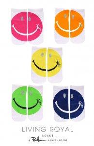 ロンハーマン(Ron Herman)スマイル柄靴下/アンクルソックス/Living Royalコラボ/Glitter Happy Face Ankle Socks