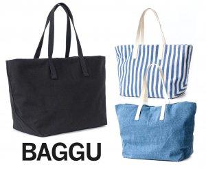 BAGGU(バグゥ)トートバッグ/ウイークエンドバッグ3/Weekend Bag3/ブラック、ストライプ、デニム/旅行バッグ/スタイリストバッグ<img class='new_mark_img2' src='https://img.shop-pro.jp/img/new/icons16.gif' style='border:none;display:inline;margin:0px;padding:0px;width:auto;' />