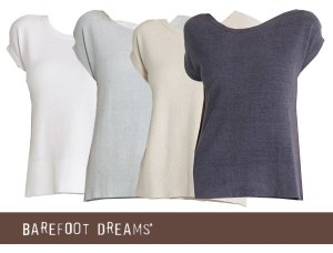 ベアフットドリームス(Barefoot Dreams)Tシャツ/レディース半袖カットソー/Barefoot Dreams COZYCHIC ULTRA LITE CAP SLEEVE TEE<img class='new_mark_img2' src='https://img.shop-pro.jp/img/new/icons16.gif' style='border:none;display:inline;margin:0px;padding:0px;width:auto;' />