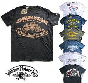 ジョンソンモータース(Johnson Motors)Tシャツ/ロゴプリント/メンズ半袖<img class='new_mark_img2' src='https://img.shop-pro.jp/img/new/icons16.gif' style='border:none;display:inline;margin:0px;padding:0px;width:auto;' />