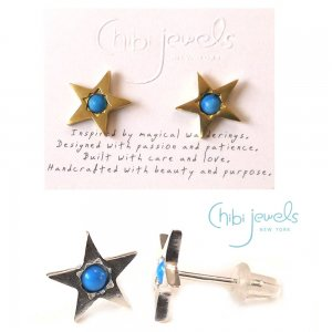 Chibi Jewels(チビジュエルズ)ターコイズスターピアス/星のピアス/Turquoise Star Stud Earrings/E183<img class='new_mark_img2' src='https://img.shop-pro.jp/img/new/icons16.gif' style='border:none;display:inline;margin:0px;padding:0px;width:auto;' />