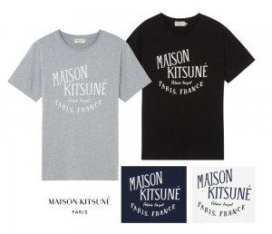 メゾンキツネ(MAISON KITSUNE)レディース&メンズ Tシャツ PALAIS ROYAL ロゴプリント/ホワイト、ネイビー、ブラック、グレー<img class='new_mark_img2' src='https://img.shop-pro.jp/img/new/icons16.gif' style='border:none;display:inline;margin:0px;padding:0px;width:auto;' />
